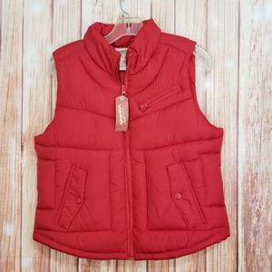 New With Tags Arizona Red Puffer Vest 3 pockets lg